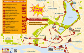 Tourenplan - Stadtrundfahrt – Hop On Hop Off – Classic Linie C – Die rot-gelben Doppeldecker