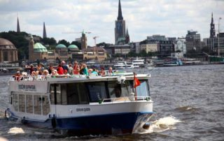 Hamburg Bergedorf Schifffahrt - Schiffstouren Barkassenfahrten Hafenrundfahrten
