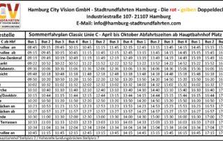Sommerfahrplan - Stadtrundfahrt – Hop On Hop Off – Classic Linie C – Die rot-gelben Doppeldecker
