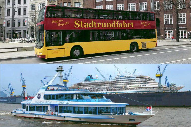 Stadtrundfahrt Hamburg Tagesticket + 1h Hafenrundfahrt – KOMBITICKET
